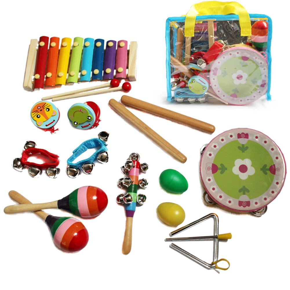 other-learning-office-supplies 14pcs Baby Wooden Musical instruments Toys Children Toddlers Percussion Set Teaching Aid Music for Kindergarten Kids HOB1769166 1 1