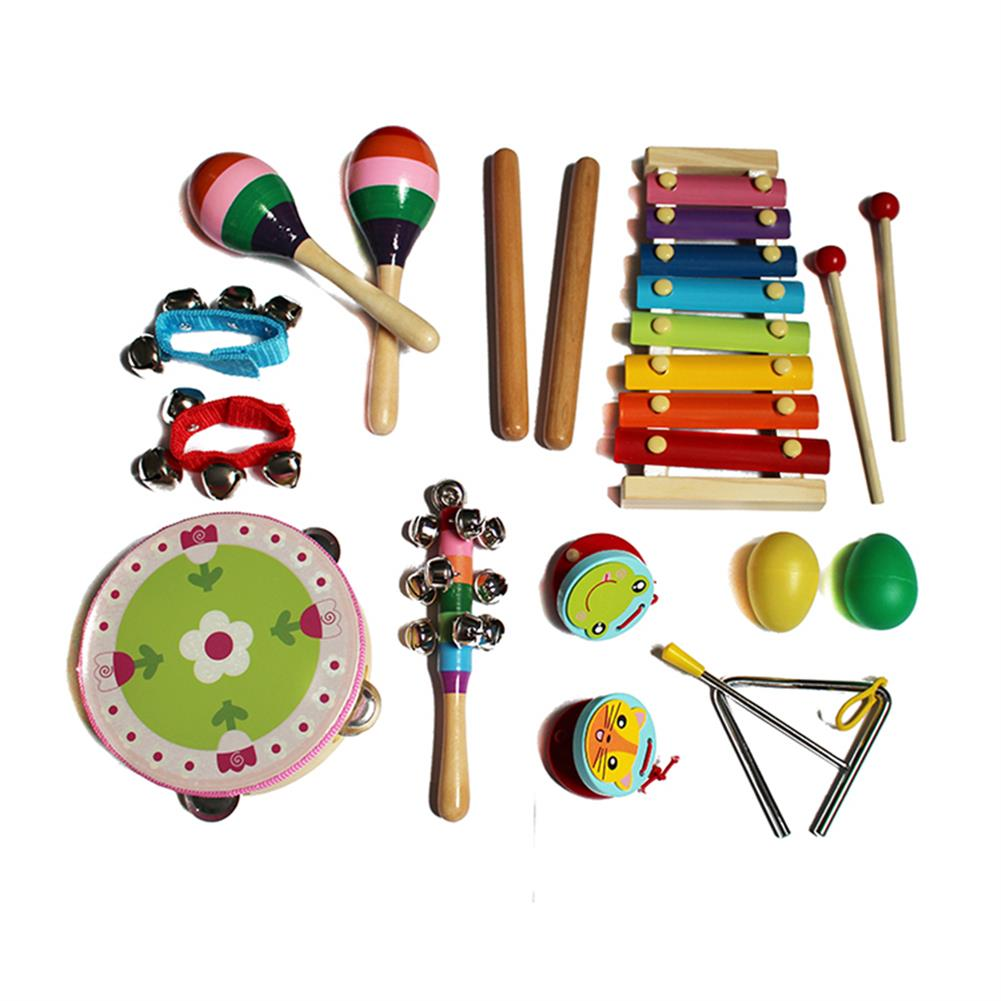 other-learning-office-supplies 14pcs Baby Wooden Musical instruments Toys Children Toddlers Percussion Set Teaching Aid Music for Kindergarten Kids HOB1769166 2 1