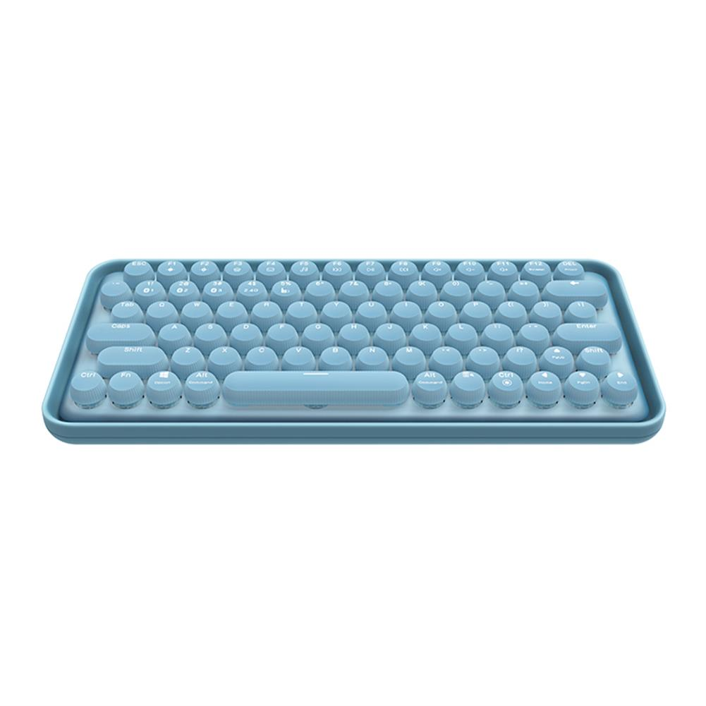 mechanical-gaming-keyboard Ramelo Pre5 79 Keys Mechanical Keyboard Multimode Wireless Bluetooth 3.0/5.0 2.4G Type-C Connection Keyboard Rechargable Blue Switch office Typing Keyboard for IPAD Laptop HOB1769278 2 1