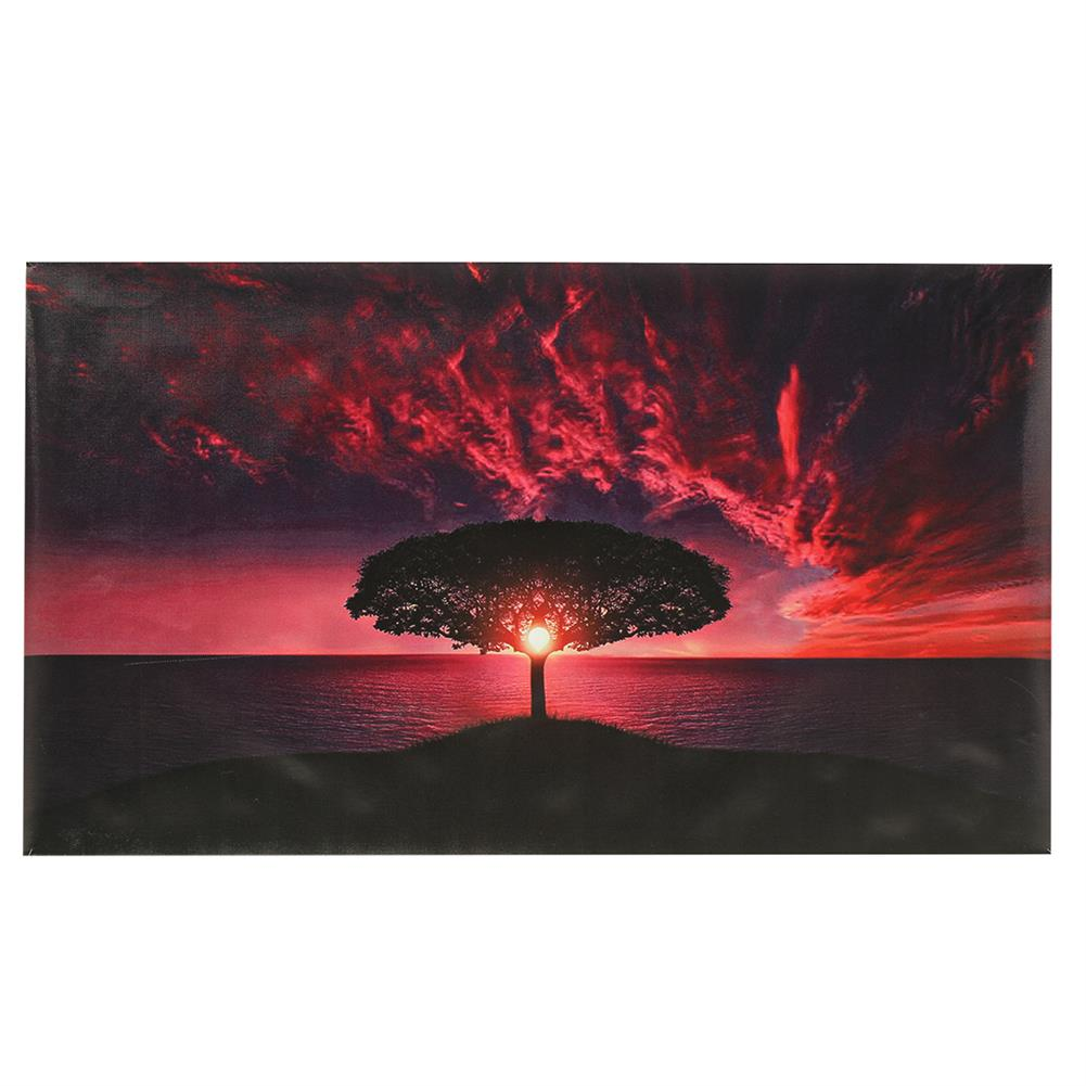 art-kit 1 Pc Canvas Print Painting Sunset Sea Tree Wall Decorative Art Pictures Frameless Wall Hanging Home office Decoration HOB1769830 1