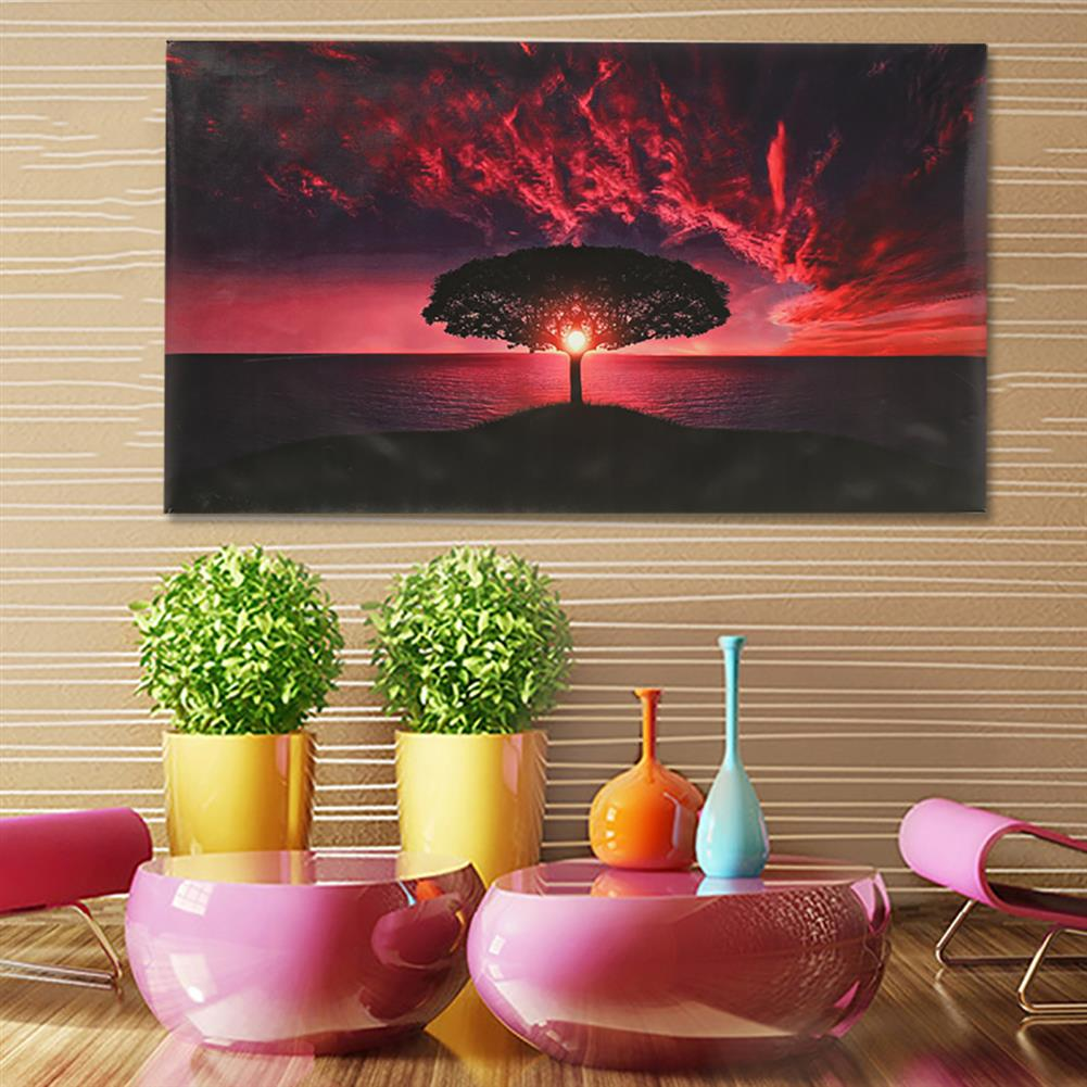 art-kit 1 Pc Canvas Print Painting Sunset Sea Tree Wall Decorative Art Pictures Frameless Wall Hanging Home office Decoration HOB1769830 1 1