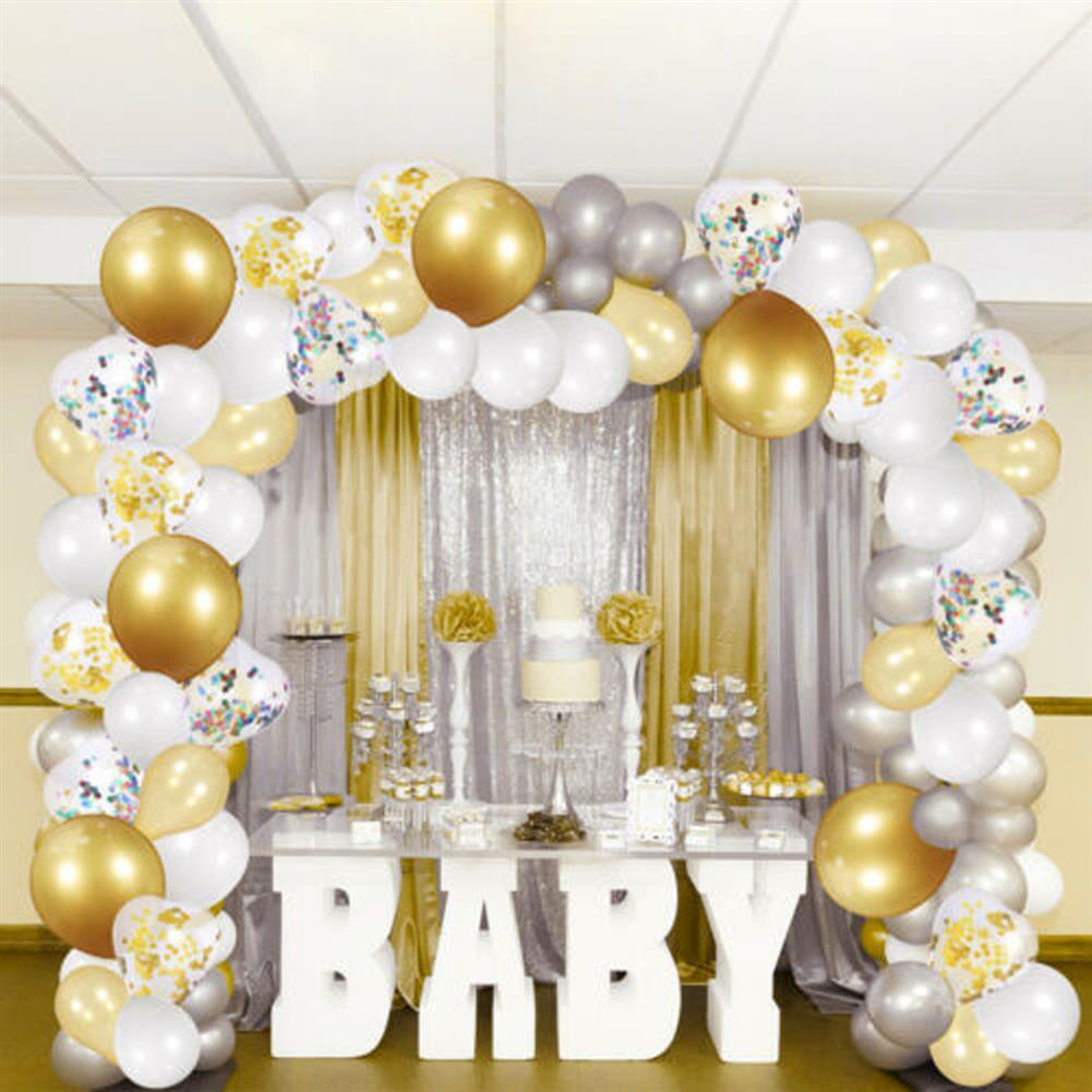 other-learning-office-supplies 249Pcs Balloon Arch Set Golden White Ballon Arch Air Pump Set Birthday Wedding Baby Shower Garland Arch for Home Decor HOB1769853 1 1