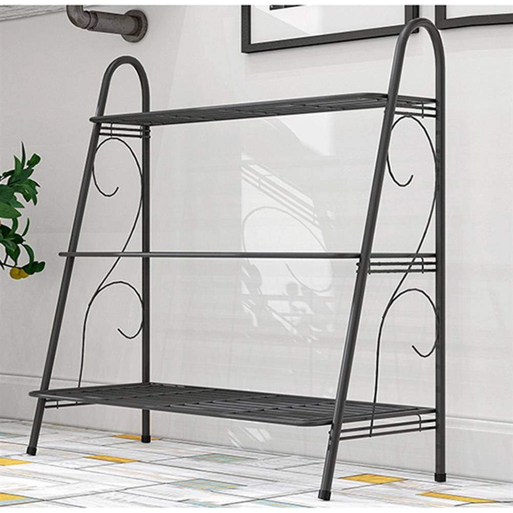 book-stands 3 Layers Flower Rack Plant Display Stand Floor Shelf Shoe Rack indoor Iron Storage Shelf for Living Room Home office HOB1770077 1 1