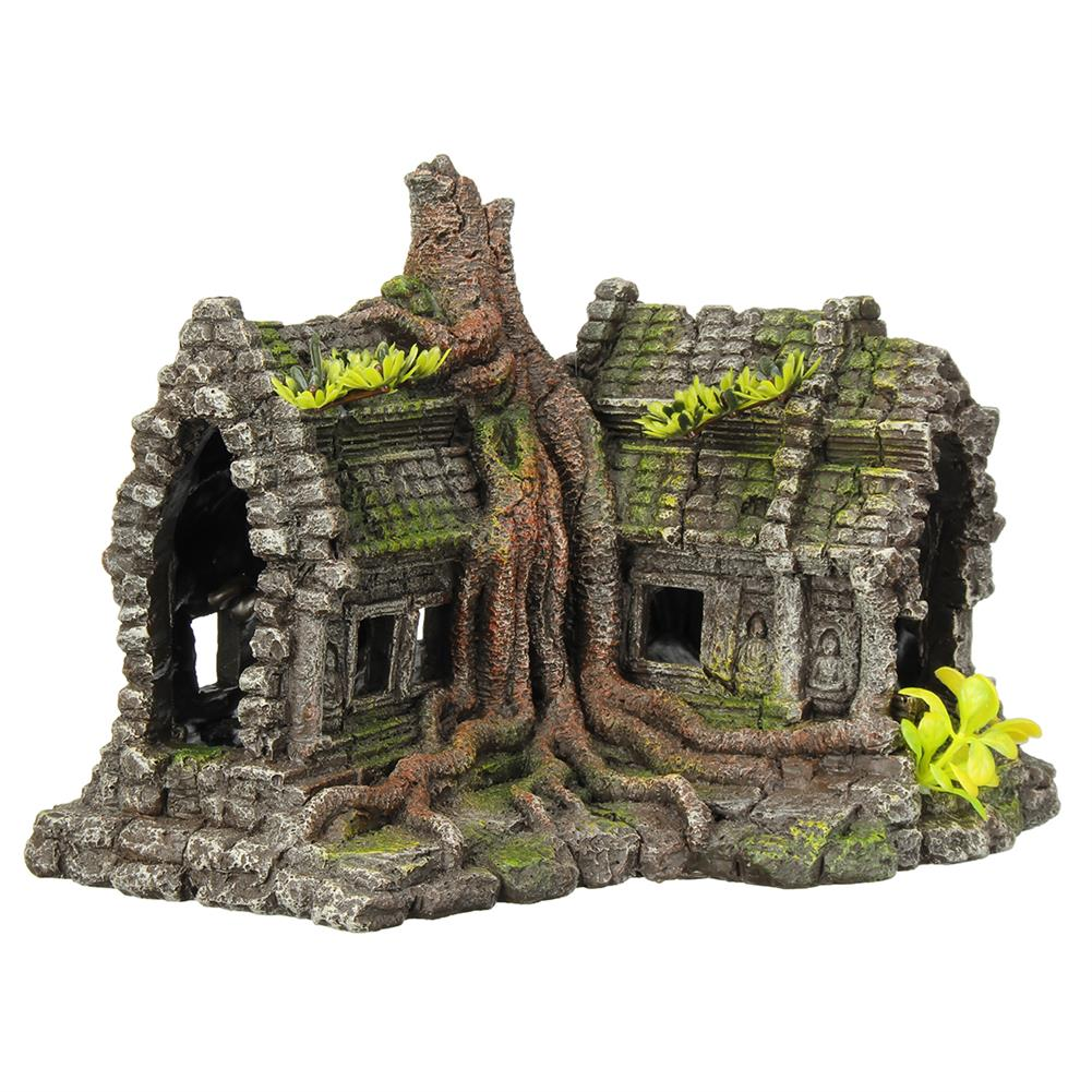 other-learning-office-supplies Resin Sculpture Model Fishtank Decorations Hideing Hole Aquarium Rockery Landscaping Castle for Home Decoration HOB1770255 1