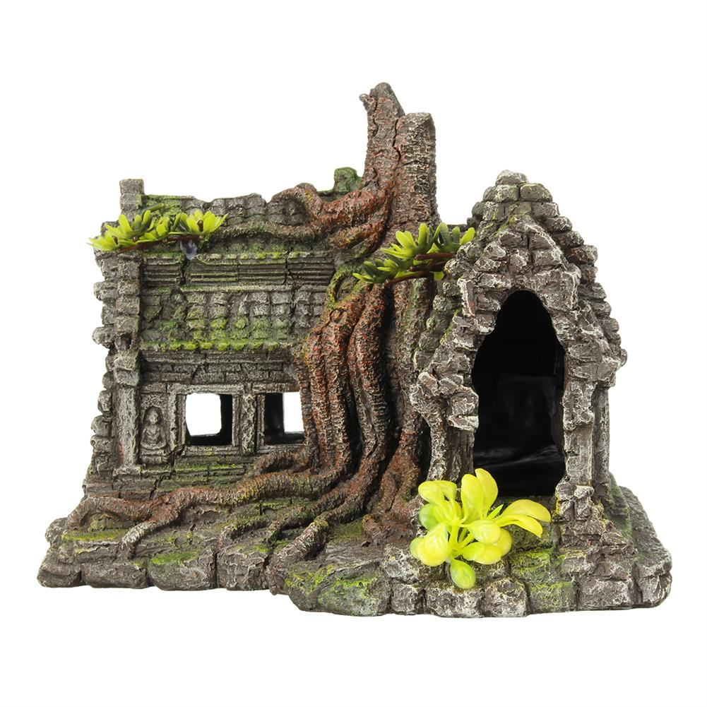 other-learning-office-supplies Resin Sculpture Model Fishtank Decorations Hideing Hole Aquarium Rockery Landscaping Castle for Home Decoration HOB1770255 3 1