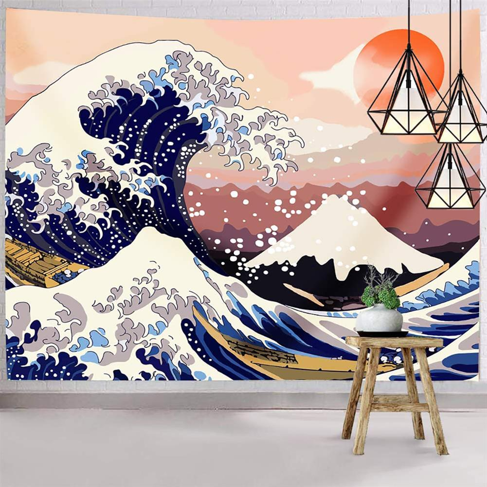 other-learning-office-supplies Japanese Style Tapestry the Great Ocean Wave Tapestry Mount Fuji Wall Hanging Tapestry for Room Dorm Decor HOB1770658 1