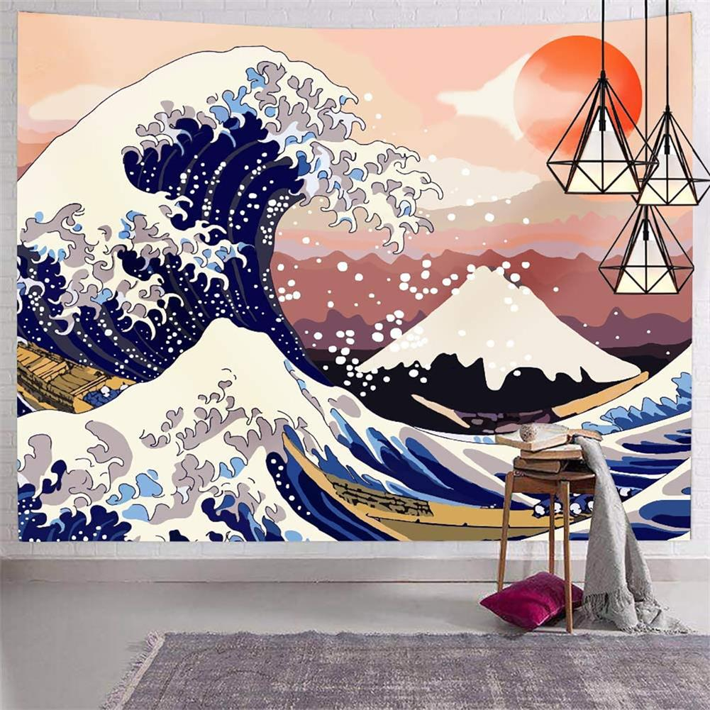 other-learning-office-supplies Japanese Style Tapestry the Great Ocean Wave Tapestry Mount Fuji Wall Hanging Tapestry for Room Dorm Decor HOB1770658 1 1