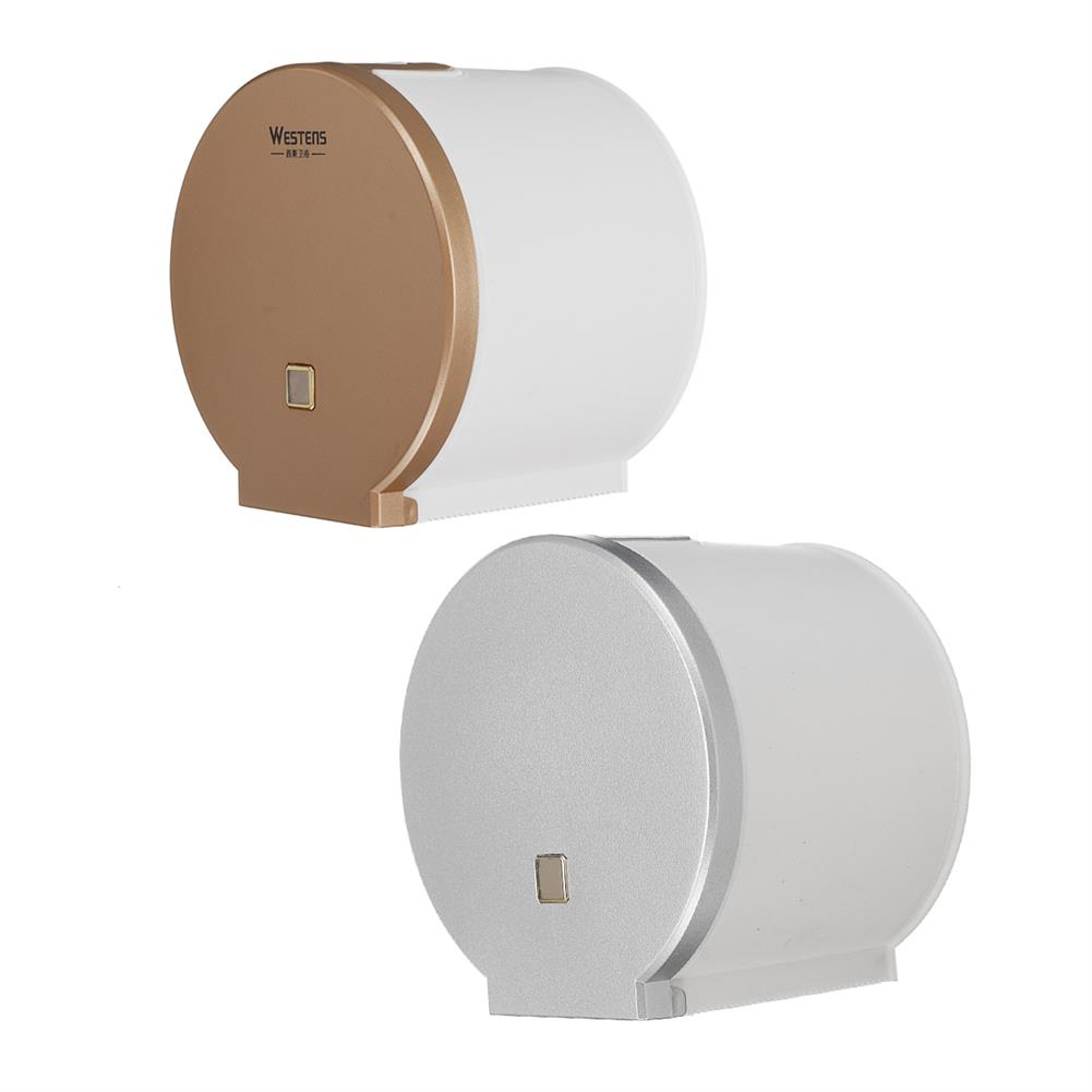 other-learning-office-supplies Westens Toliet Paper Outlet Rosegold/Silver Bathroom Tissue Holder with Visible Window for Home office Hotel Restroom HOB1770761 1