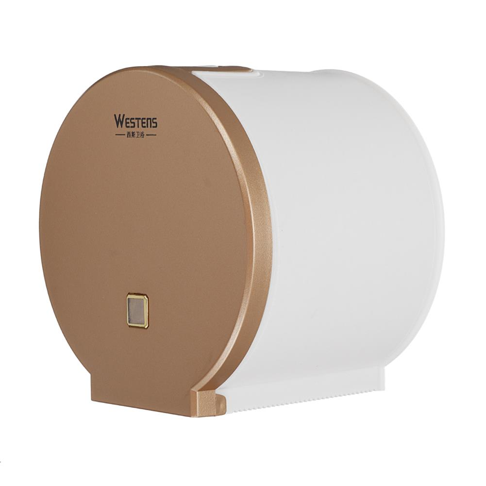 other-learning-office-supplies Westens Toliet Paper Outlet Rosegold/Silver Bathroom Tissue Holder with Visible Window for Home office Hotel Restroom HOB1770761 2 1