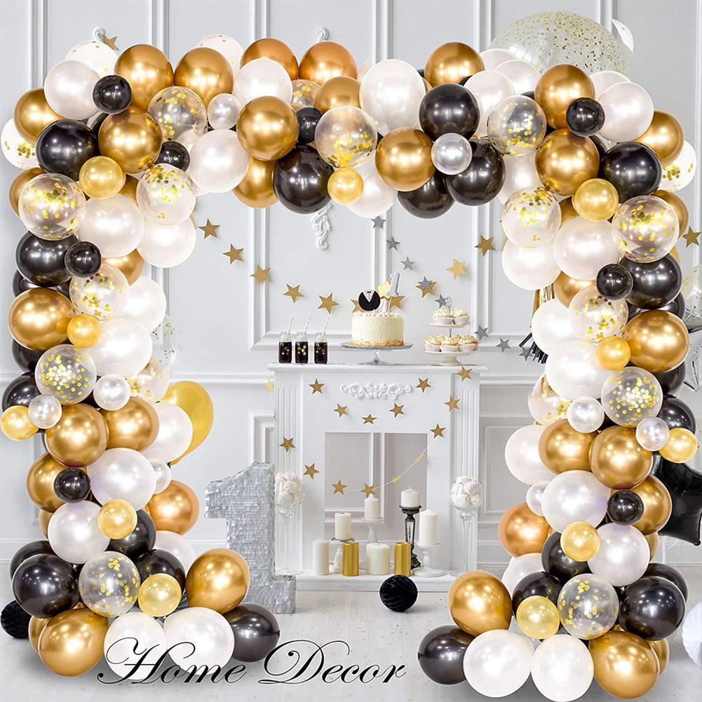 other-learning-office-supplies 226Pcs DIY Retro Gold Balloon Garland Arch Set Chrome Gold Ballon for Birthday Christmas Graduation Weddings Party Decoration HOB1770801 1