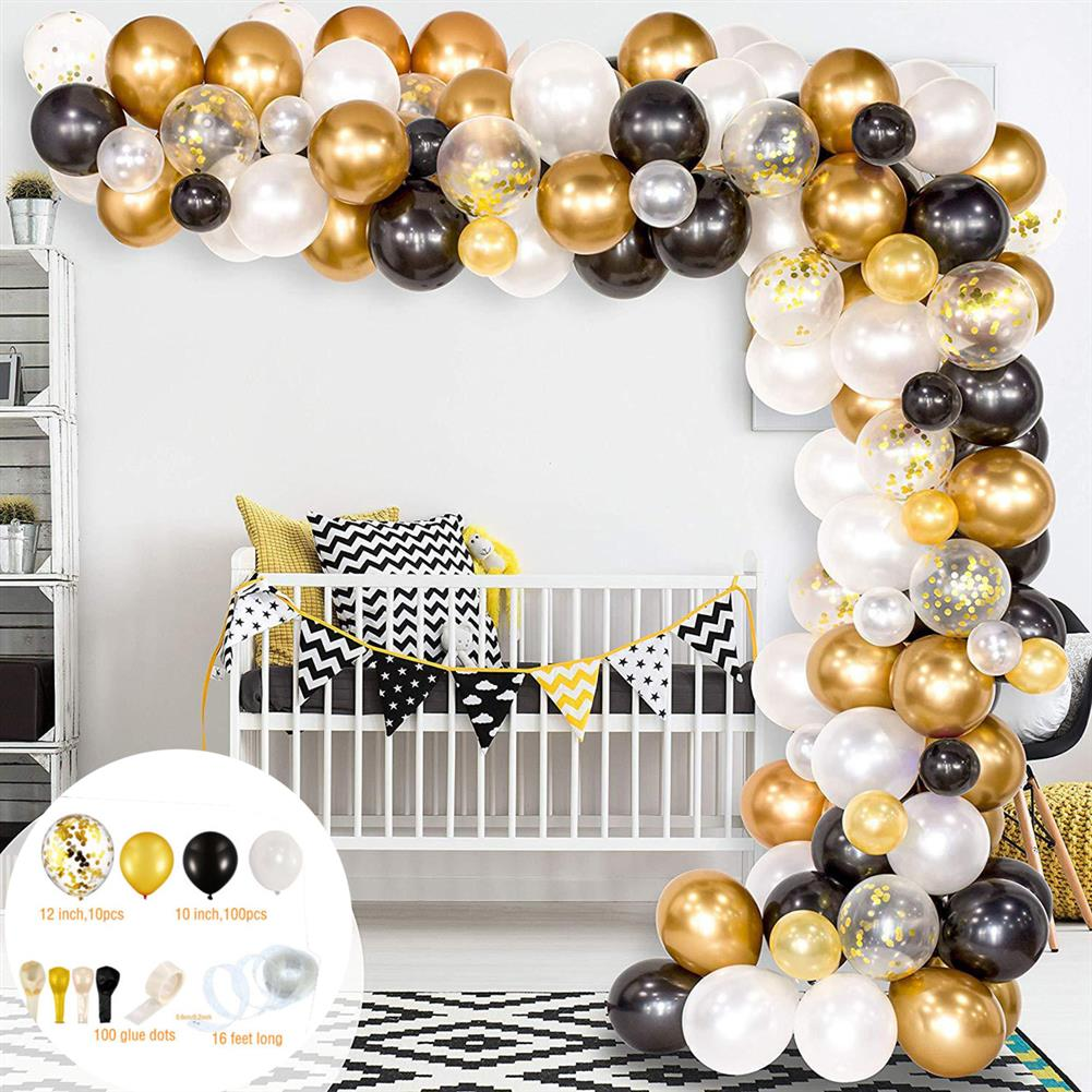 other-learning-office-supplies 226Pcs DIY Retro Gold Balloon Garland Arch Set Chrome Gold Ballon for Birthday Christmas Graduation Weddings Party Decoration HOB1770801 1 1
