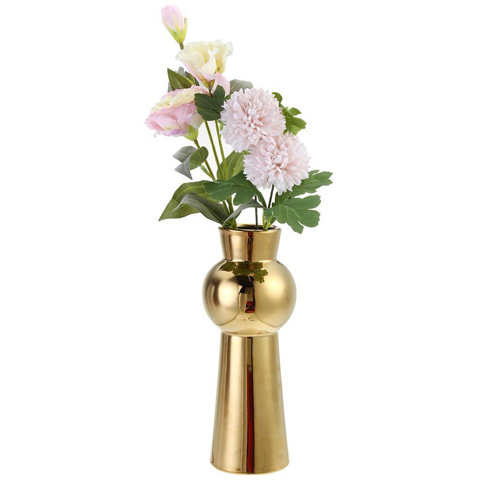 desktop-off-surface-shelves Golden Ceramic Vase Living Room Planting Crafts Flower Arrangement Container Home office Desk Decoration Ornaments HOB1770828 1 1