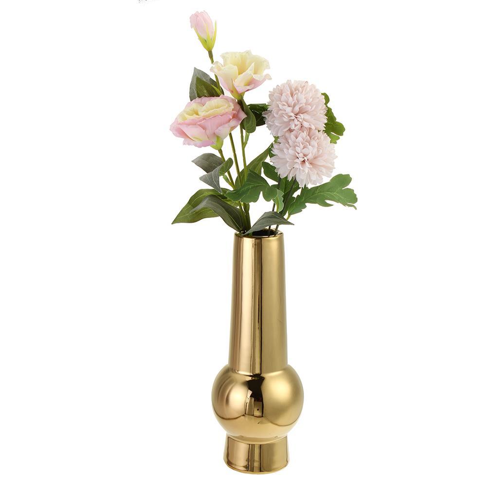 desktop-off-surface-shelves Golden Ceramic Vase Living Room Planting Crafts Flower Arrangement Container Home office Desk Decoration Ornaments HOB1770828 2 1