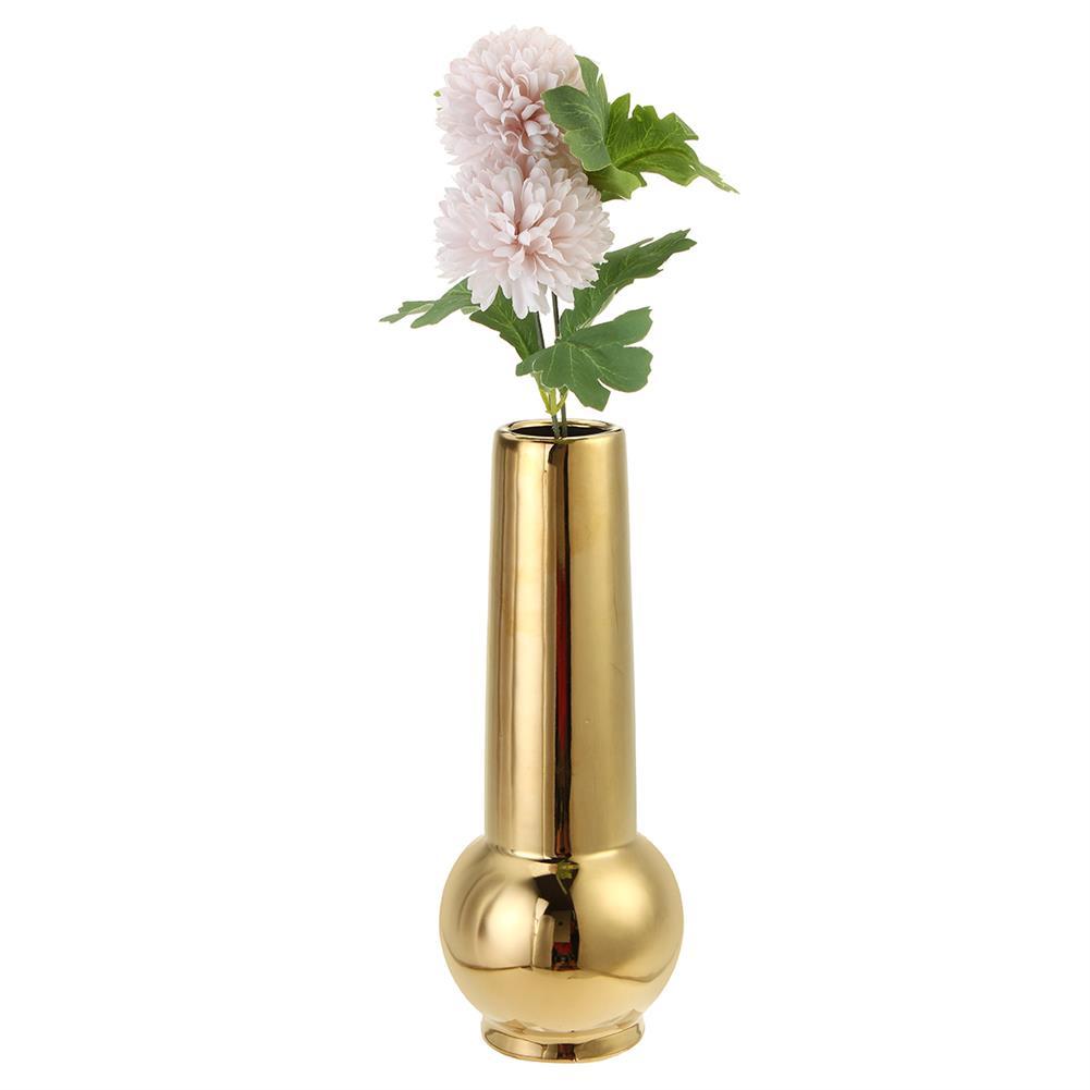 desktop-off-surface-shelves Golden Ceramic Vase Living Room Planting Crafts Flower Arrangement Container Home office Desk Decoration Ornaments HOB1770828 3 1