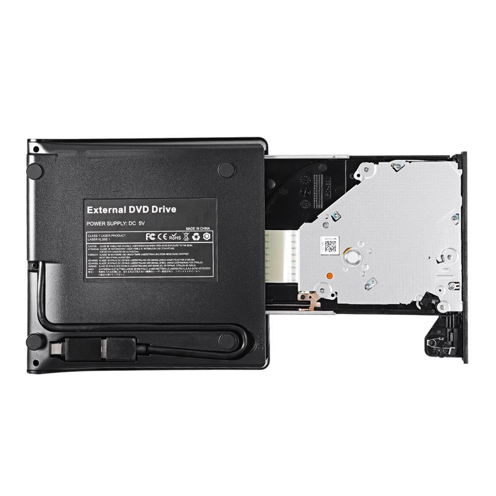 optical-drives USB3.0 External Optical Drive CD DVD Burner DVD-RW Player Writer Rewriter Support 2MB Data Transfer for PC Laptop Windows 7/8/10 HOB1770853 3 1