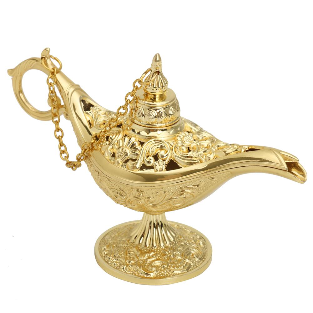other-learning-office-supplies Vintage Metal Aladin Lamp Magical Aladdin's Genie Lamp Zinc Alloy Table Decoration Classic Arabian Costume Props Lamp for Halloween Party HOB1770930 2 1
