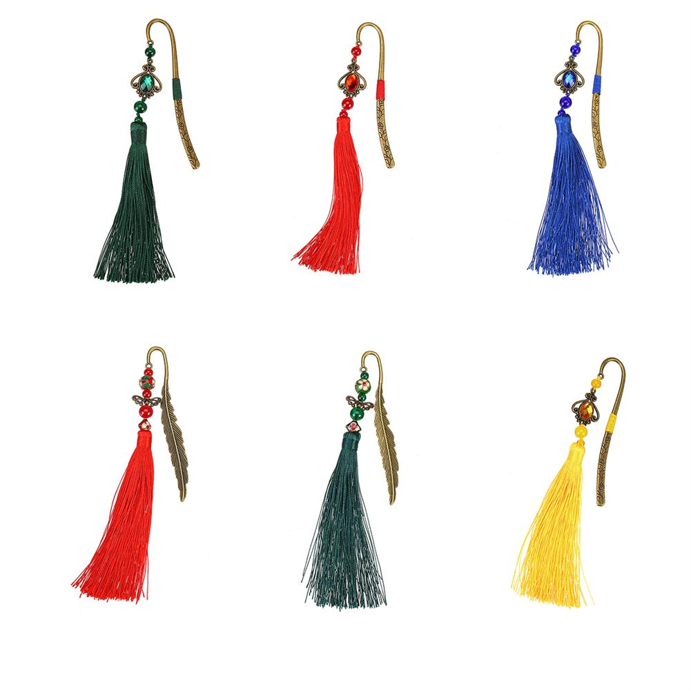 stamp-bookmark Tassel Metal Bookmark Drop/Butterfly Shape Vintage Chinese Cosplay Gift office Learning Stationery for School office Home HOB1770995 1