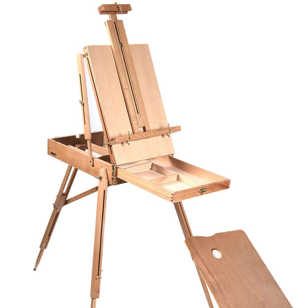 artboard-easel Folding Wooden Easel Portable Durable French Sketch Box Artist Painters Tripod Painting Supplies Easels HOB1771254 1