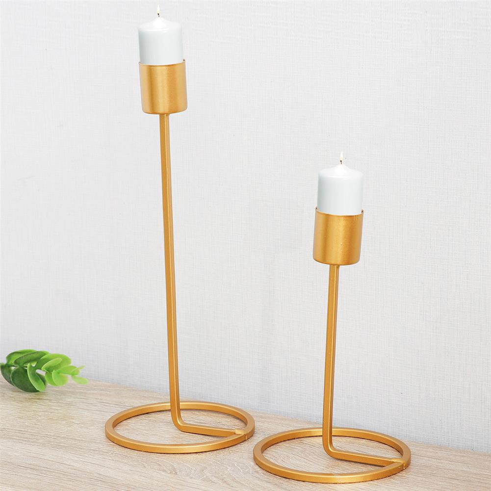 other-learning-office-supplies Golden Single Head Candle Holder Metal Nordic Geometric Candlestick for Home office Restaurant Romantic Decoration HOB1771284 3 1