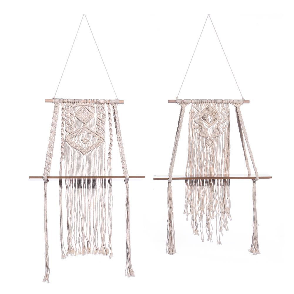 other-learning-office-supplies Cloth Tapestry Storage Rack Creative Bohemian Style Canvas Wood Wall Hanging Storage Holder for Home Room office Decoration HOB1771353 1
