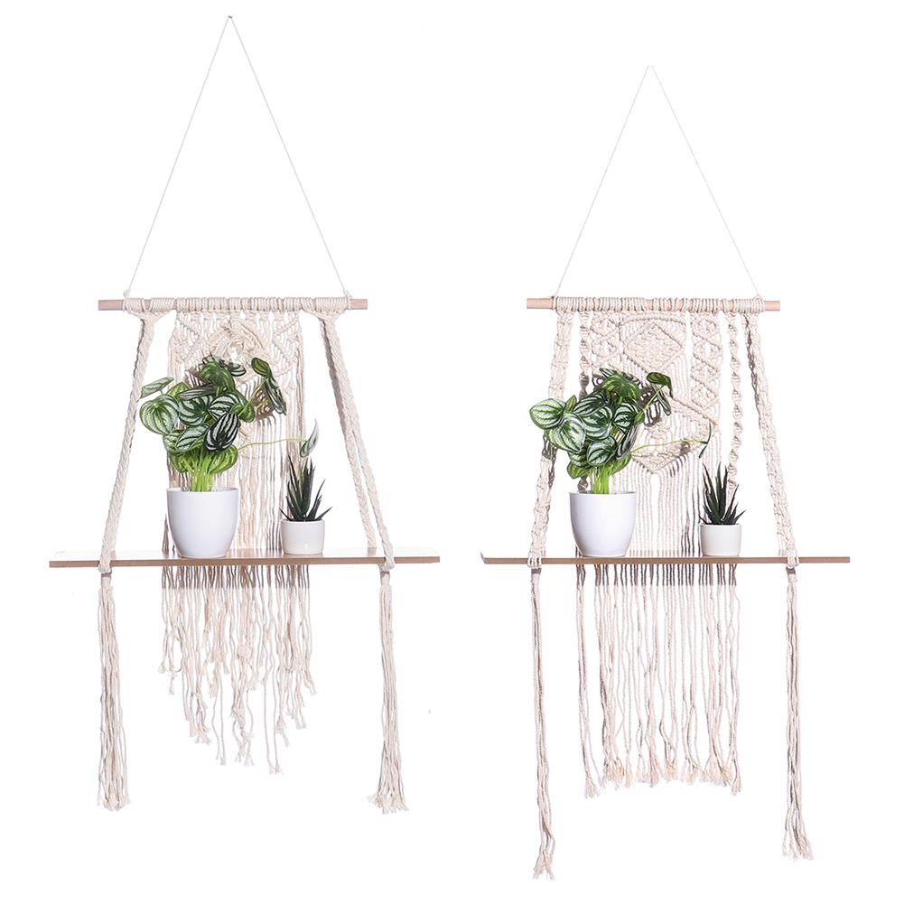 other-learning-office-supplies Cloth Tapestry Storage Rack Creative Bohemian Style Canvas Wood Wall Hanging Storage Holder for Home Room office Decoration HOB1771353 1 1