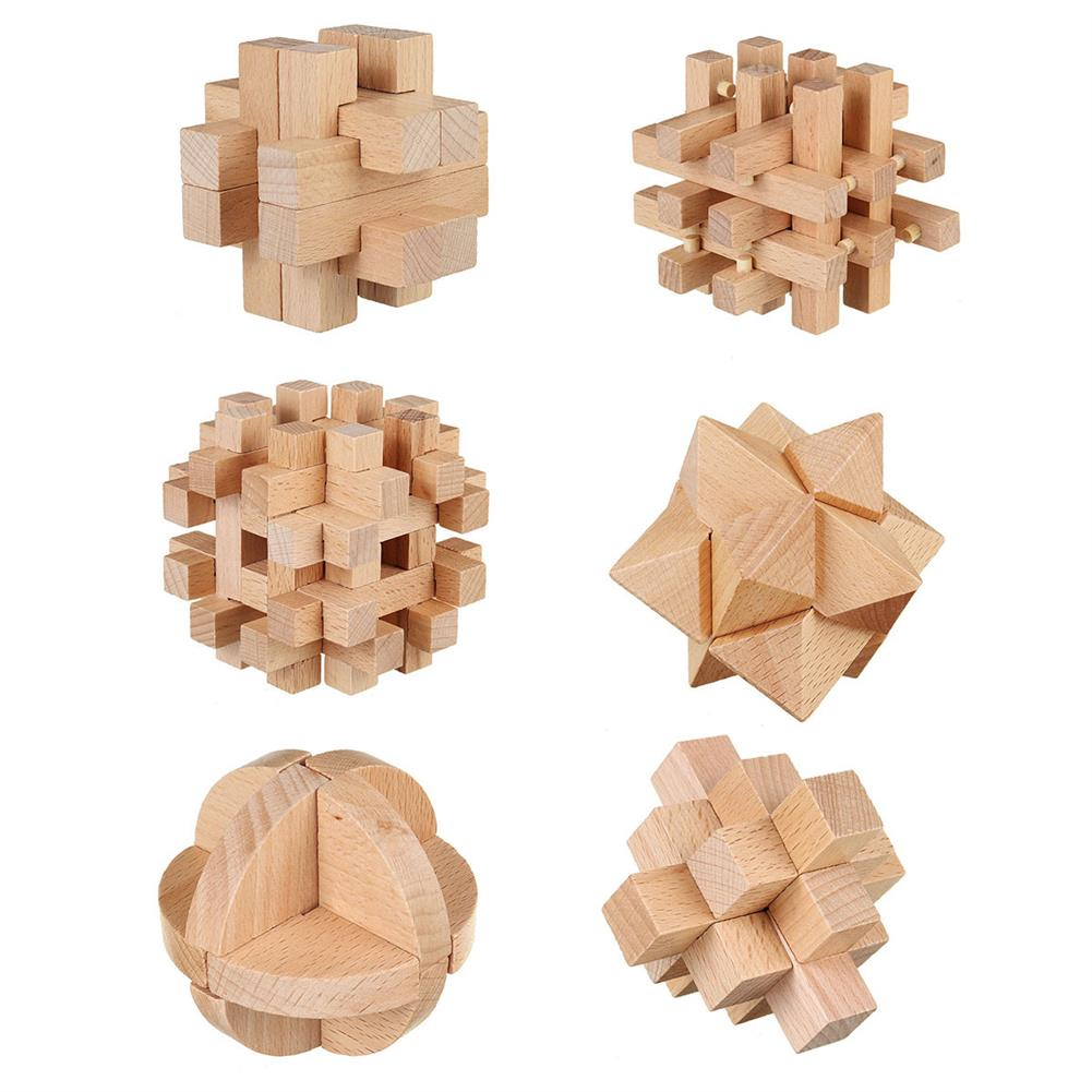 other-learning-office-supplies 3D Wooden Kong Ming Lock Puzzle Game Toy Small Size Bamboo Brain Teaser Game Education intelligent Toy for Kids HOB1771620 1