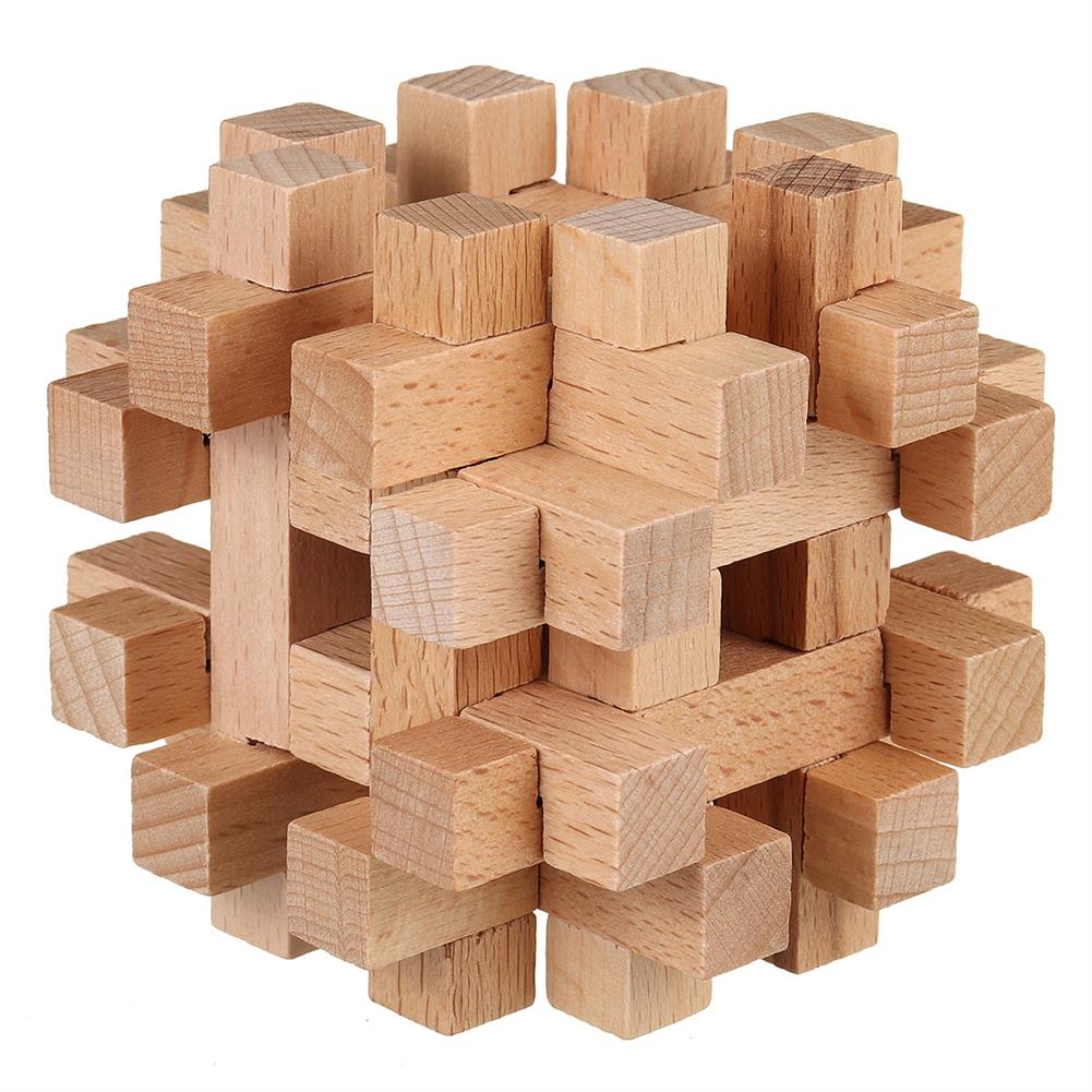other-learning-office-supplies 3D Wooden Kong Ming Lock Puzzle Game Toy Small Size Bamboo Brain Teaser Game Education intelligent Toy for Kids HOB1771620 1 1