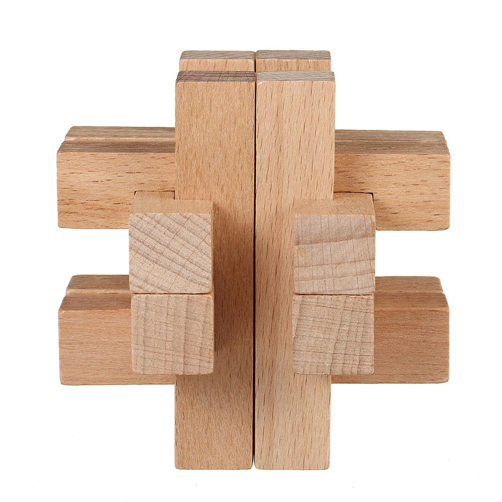 other-learning-office-supplies 3D Wooden Kong Ming Lock Puzzle Game Toy Small Size Bamboo Brain Teaser Game Education intelligent Toy for Kids HOB1771620 3 1