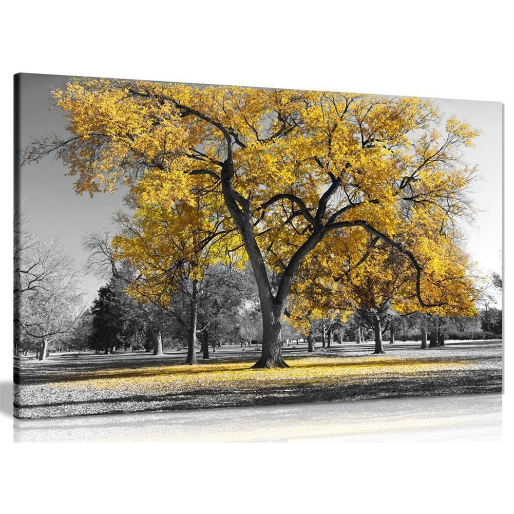 art-kit 1 Piece Canvas Painting Yellow Leaves Big Tree Wall Decorative Art Print Picture Frameless Wall Hanging Home office Decoration HOB1772216 1