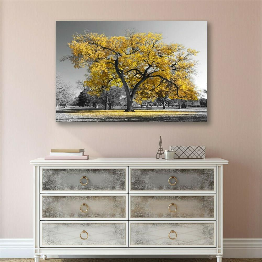 art-kit 1 Piece Canvas Painting Yellow Leaves Big Tree Wall Decorative Art Print Picture Frameless Wall Hanging Home office Decoration HOB1772216 1 1