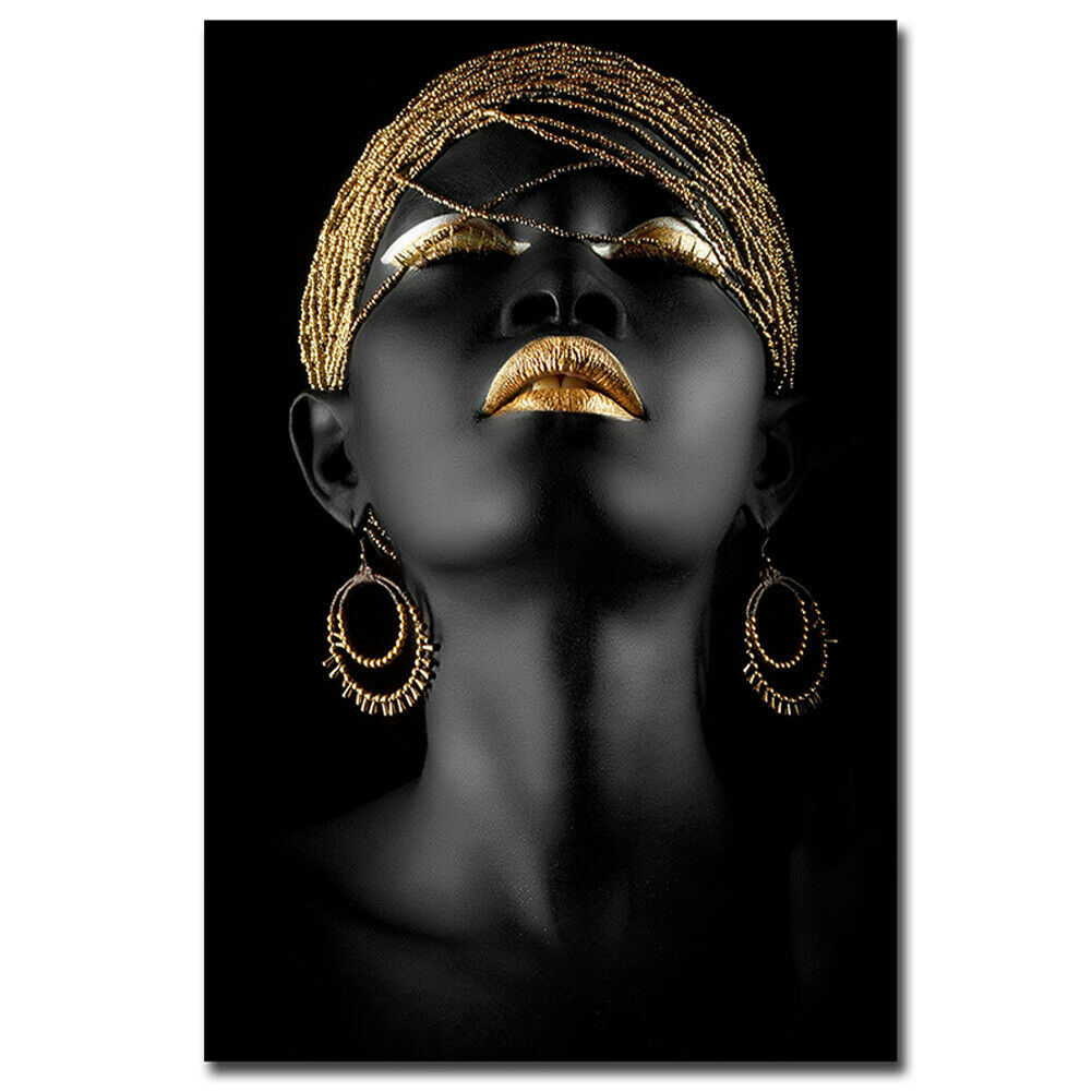 art-kit 1 Piece Canvas Painting African Woman Wall Decorative Art Print Picture Frameless Wall Hanging Home office Decoration HOB1772222 1