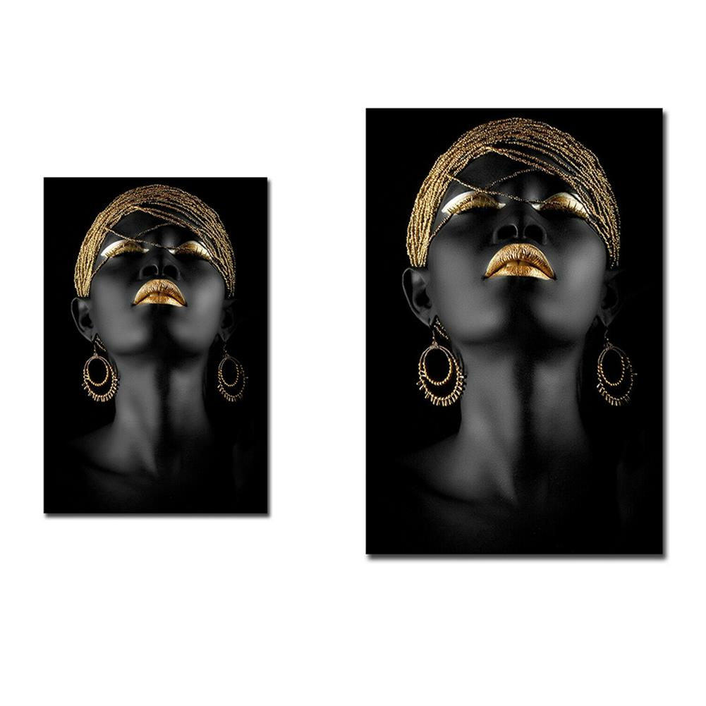 art-kit 1 Piece Canvas Painting African Woman Wall Decorative Art Print Picture Frameless Wall Hanging Home office Decoration HOB1772222 1 1