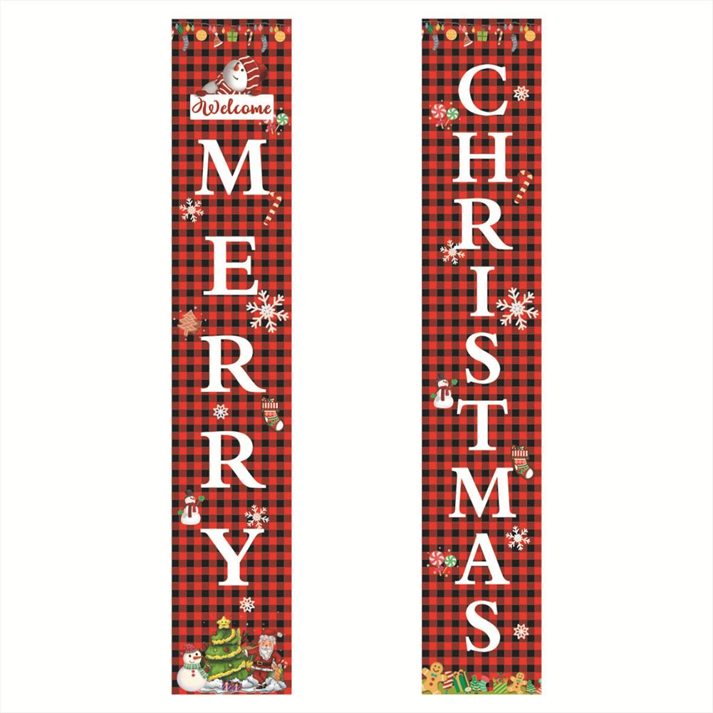 other-learning-office-supplies Merry Christmas Porch Banner Sign Door Banner Home Hanging Christmas Ornaments for Christmas Party Decor HOB1772241 1