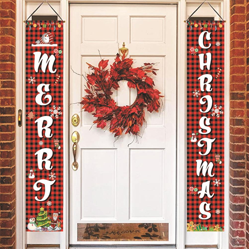 other-learning-office-supplies Merry Christmas Porch Banner Sign Door Banner Home Hanging Christmas Ornaments for Christmas Party Decor HOB1772241 2 1