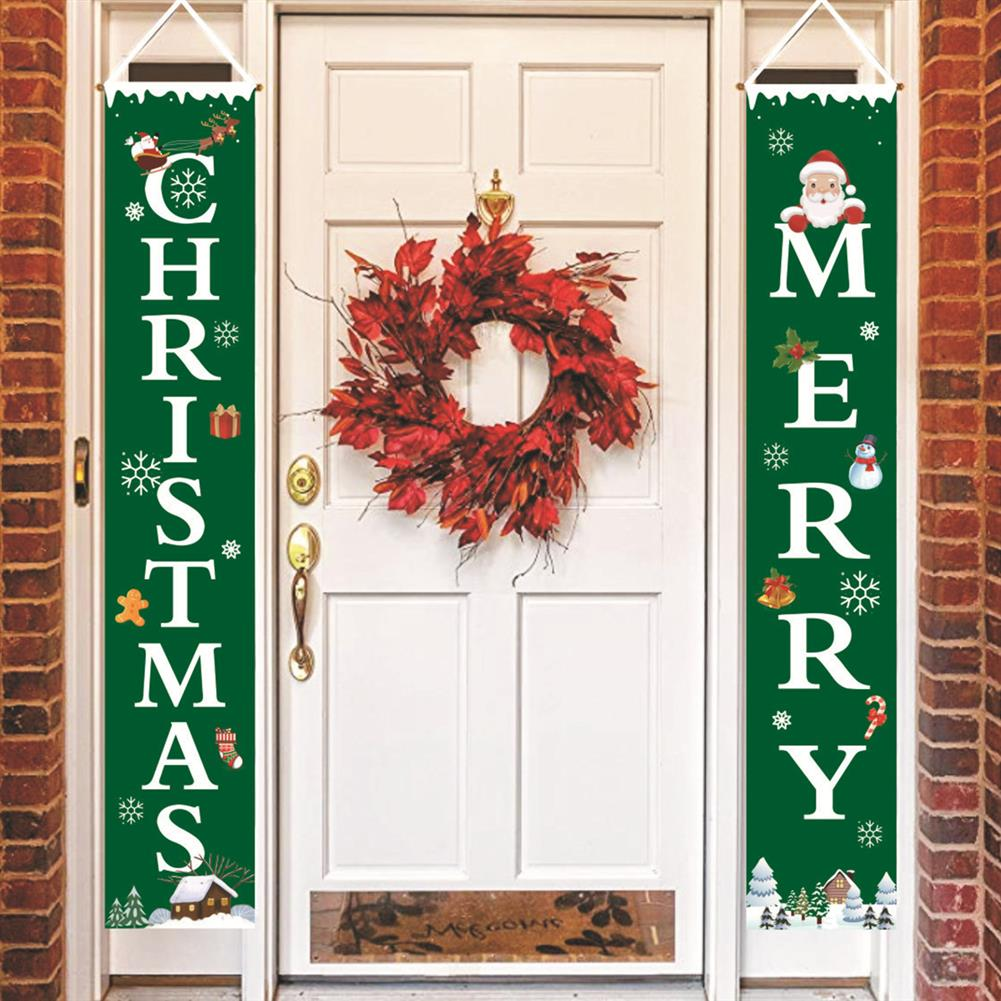 other-learning-office-supplies Merry Christmas Porch Banner Sign Door Banner Home Hanging Christmas Ornaments for Christmas Party Decor HOB1772241 3 1