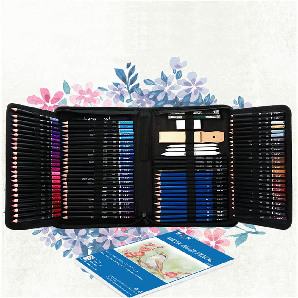 art-kit H&B HB-CBPB145 145Pcs Colored Sketching Pencils Set with High Quality Painting Tool Zipper Case for Professional Art Supplies HOB1772481 1 1