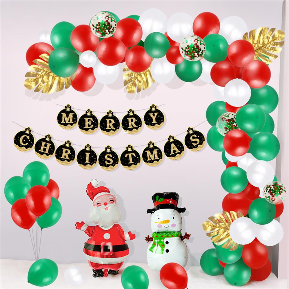 other-learning-office-supplies Christmas Balloon Set Happy Xmas Home Party Decoration with Christmas Flag Creative Scene Layout Supplies HOB1772568 3 1