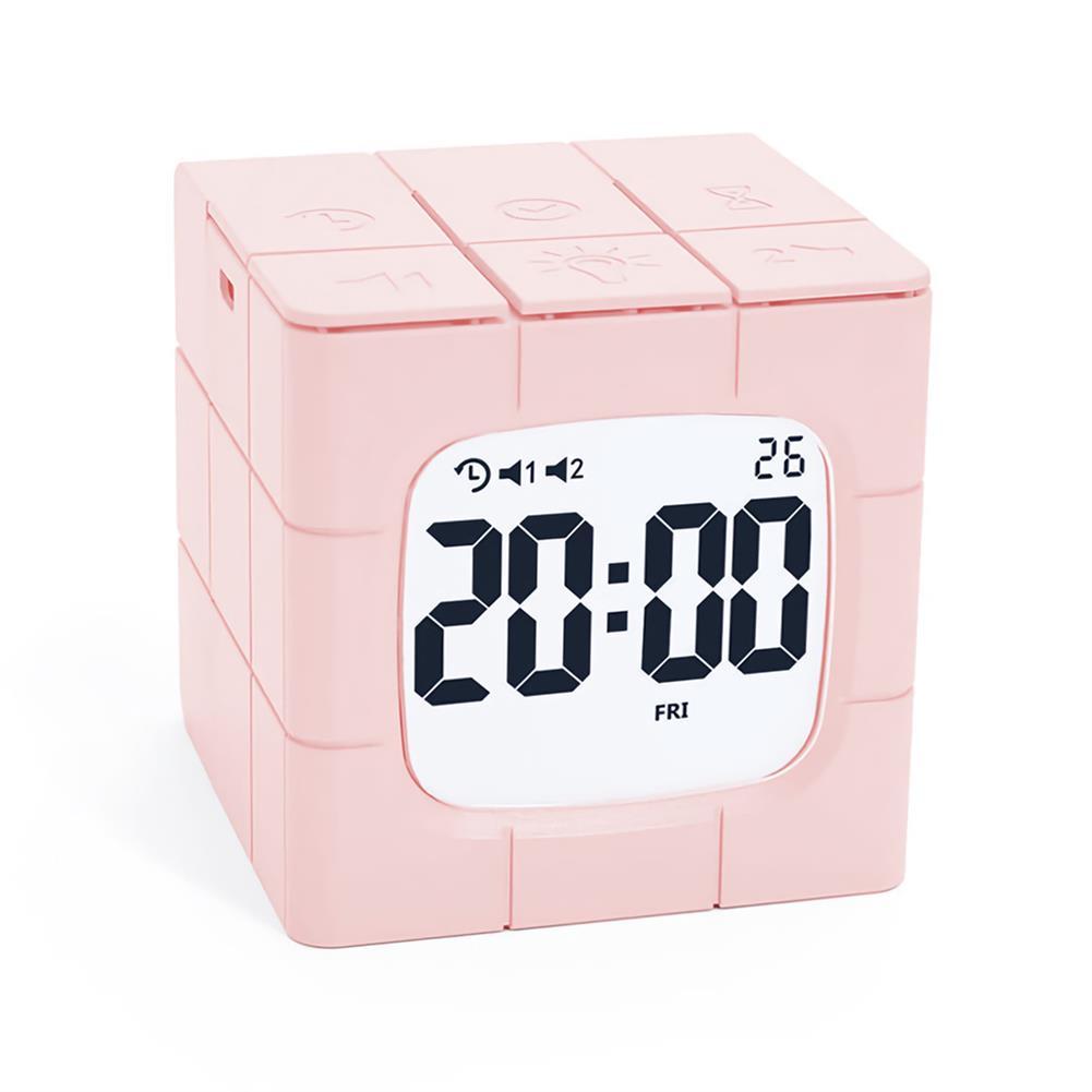 desktop-off-surface-shelves Magic Cube Alarm Clock LED Multifunctional Time Manager USB Charging Alarm Clock Timer Study Cooking Supplies HOB1773005 1 1