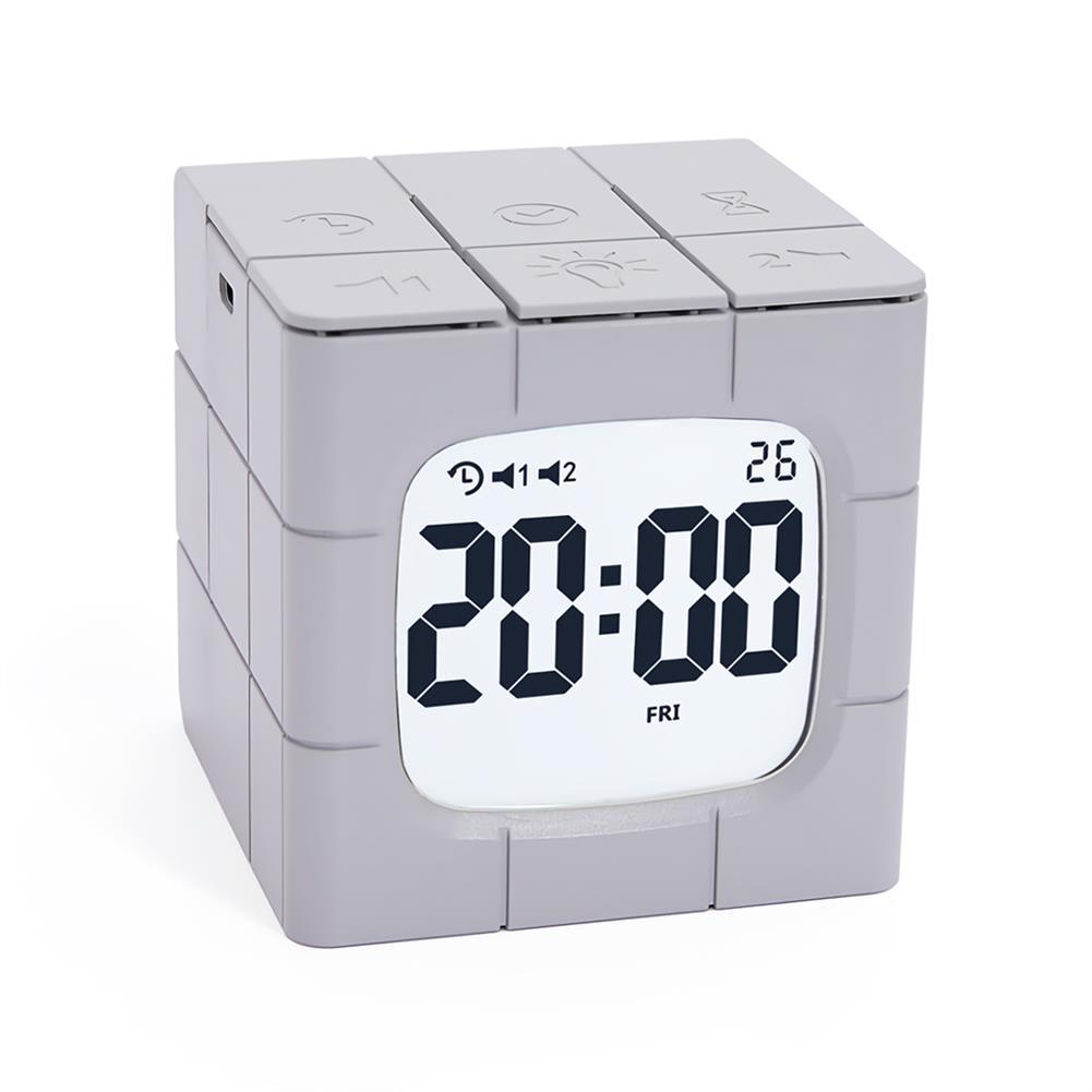 desktop-off-surface-shelves Magic Cube Alarm Clock LED Multifunctional Time Manager USB Charging Alarm Clock Timer Study Cooking Supplies HOB1773005 2 1