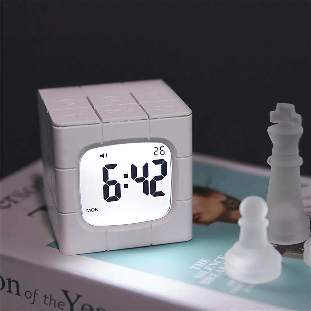 desktop-off-surface-shelves Magic Cube Alarm Clock LED Multifunctional Time Manager USB Charging Alarm Clock Timer Study Cooking Supplies HOB1773005 3 1
