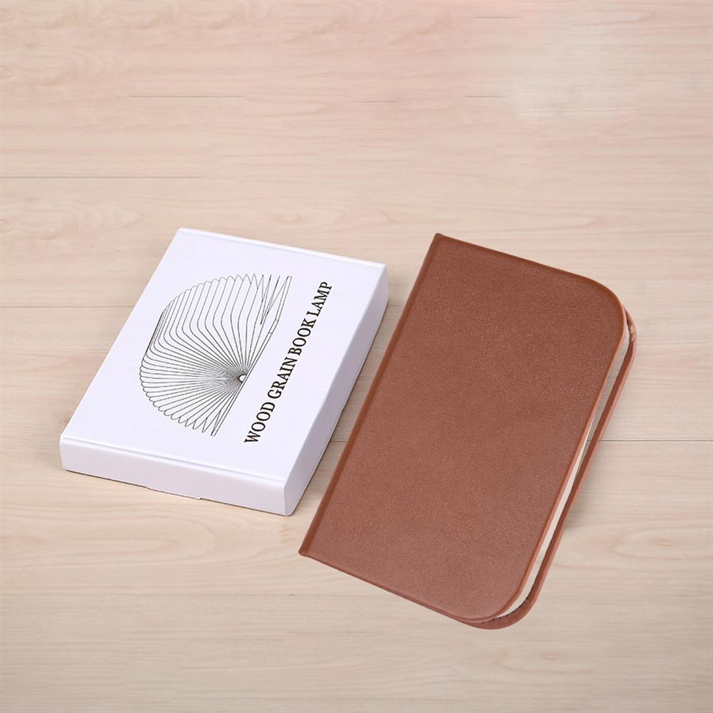 other-learning-office-supplies Wood Grain Book Light Folding Book Light USB Charging Night Light Mini Book Light for Home office Decoration HOB1773035 3 1
