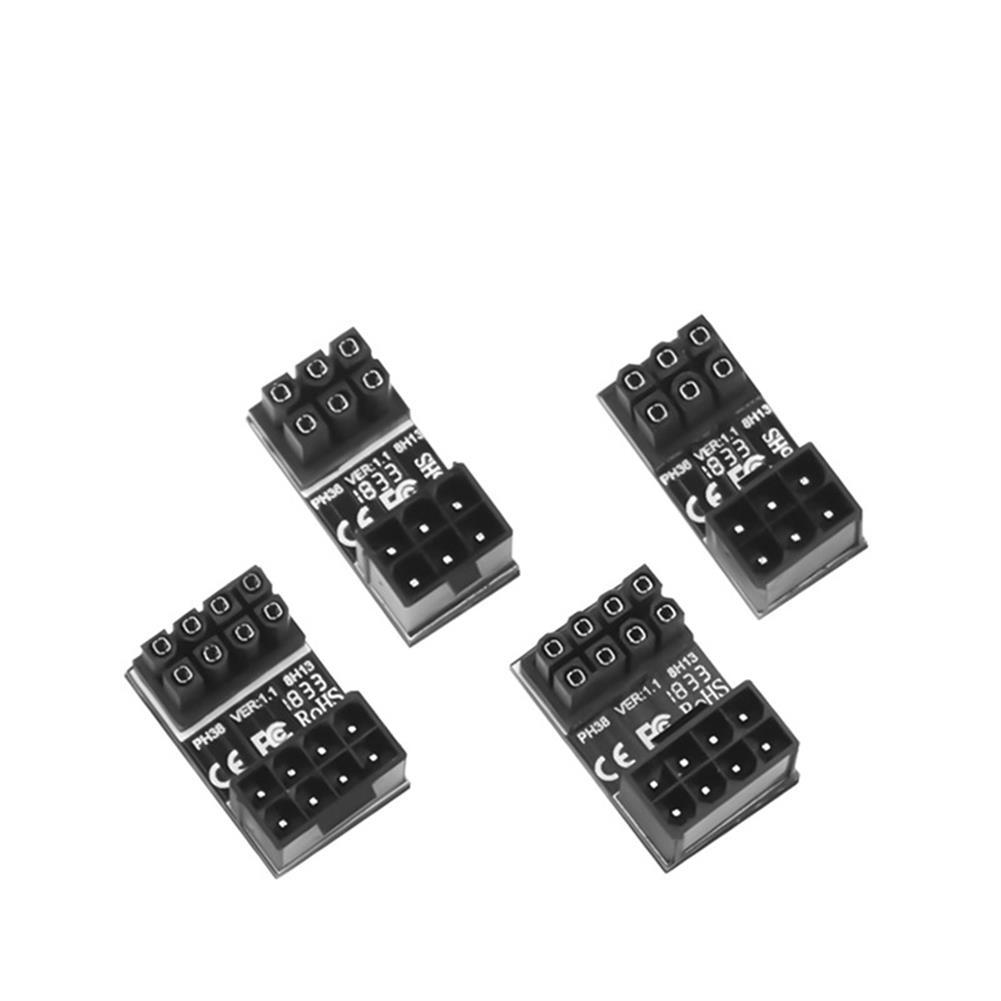 pc-gadgets JEYI Graphics Power Adapter ATX 6PIN 8PIN Power interface Turn 180 Degree Steering Adapter HOB1773044 1 1