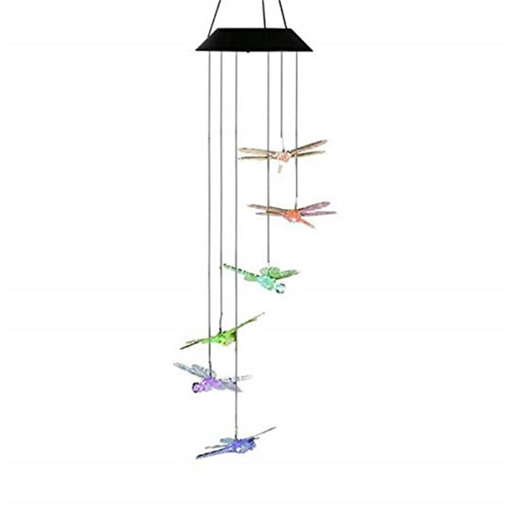 other-learning-office-supplies Solar Powered Wind Chimes Light Lamp Hanging LED Dragonfly Garden Yard Color Changing Lights for Home Garden Decoration HOB1773052 1