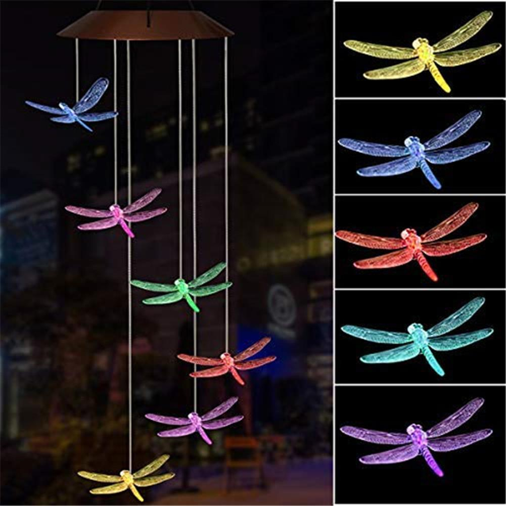 other-learning-office-supplies Solar Powered Wind Chimes Light Lamp Hanging LED Dragonfly Garden Yard Color Changing Lights for Home Garden Decoration HOB1773052 1 1