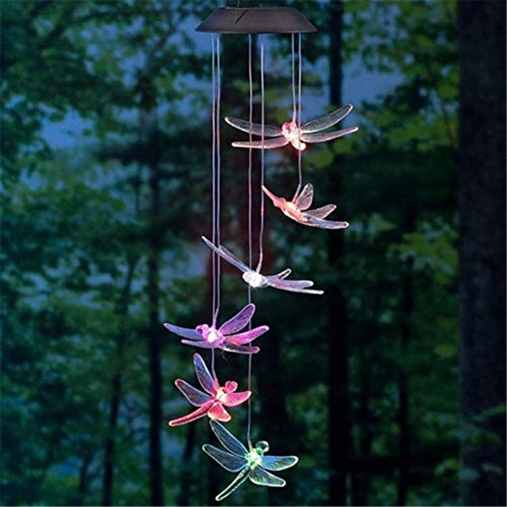 other-learning-office-supplies Solar Powered Wind Chimes Light Lamp Hanging LED Dragonfly Garden Yard Color Changing Lights for Home Garden Decoration HOB1773052 2 1
