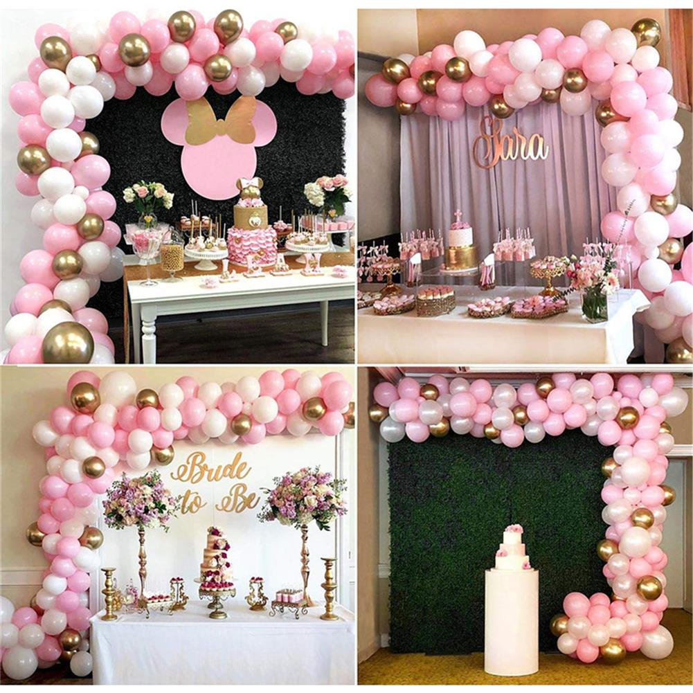 other-learning-office-supplies 112Pcs Balloon Garland Arched Set Pink White Golden Balloon Bag for Girl Birthday Baby Shower Single Girl Party Decoration HOB1773060 2 1