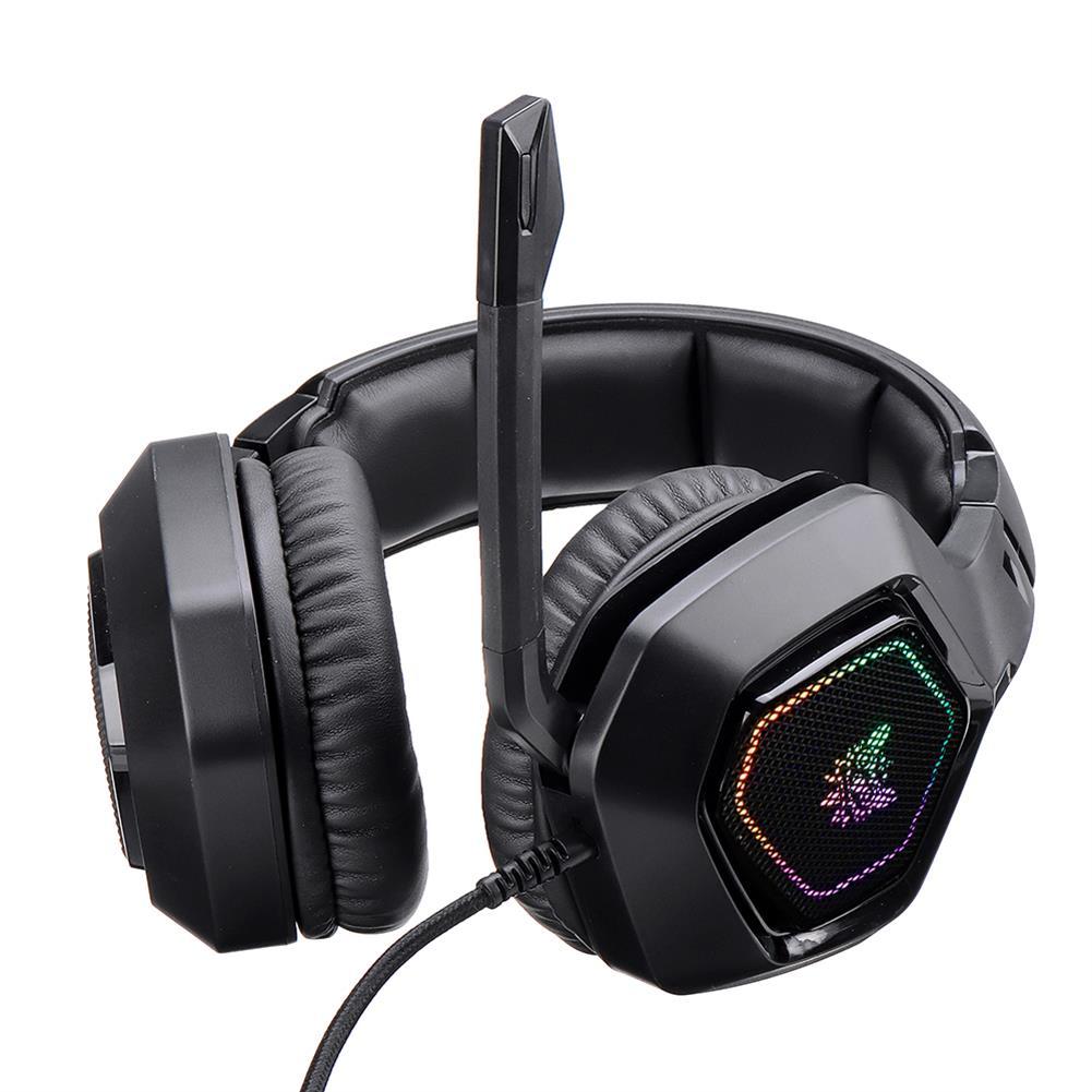headphones onikuma K10 7.1 Channel Gaming Headset Virtual Surround Sound Bass Headphone LED Lights Omnidirectional microphone USB interface HOB1773061 2 1