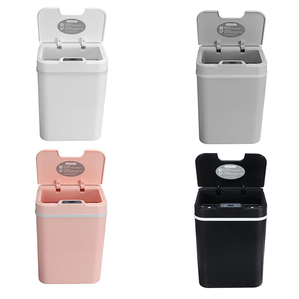 desktop-off-surface-shelves Automatic Trash Bin 12L infrared Sensor Smart Auto Trash Can Deodorizer Garbage Bin Storage Container Kitchen Living Room Dust Bin HOB1773132 1 1