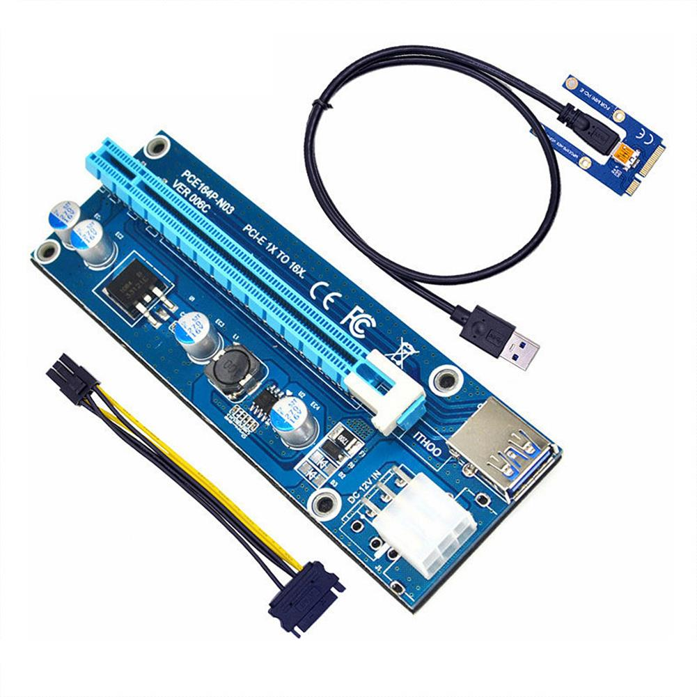 laptop-replacement-parts ITHOO Laptop External PCI-E independent Graphics Card Mini PCI-E1X to 16X Adapter Card Expansion Card HOB1773561 1