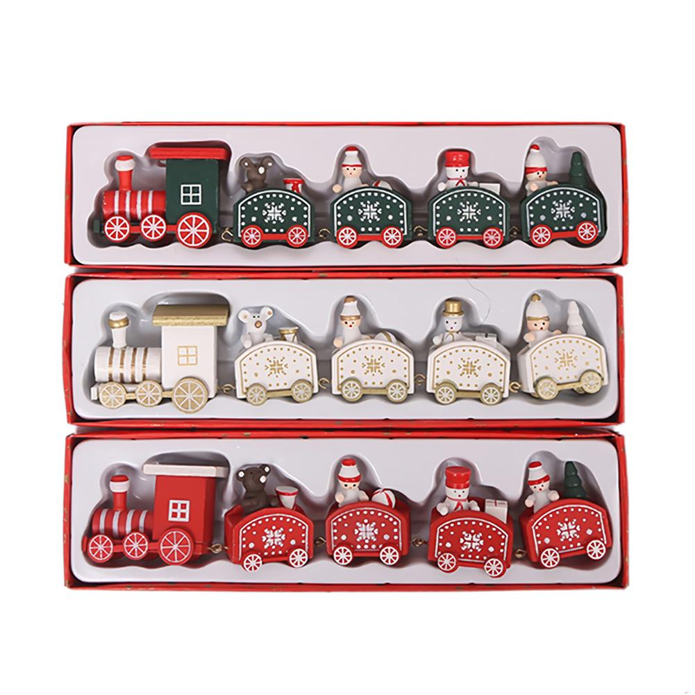 desktop-off-surface-shelves 5 Knots Christmas Little Train Wooden Train with Snowman Bear Christmas Decorations for Home Ornaments Gift Kids Toys HOB1773600 1 1
